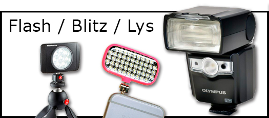 Flash, Blitz og LED lys