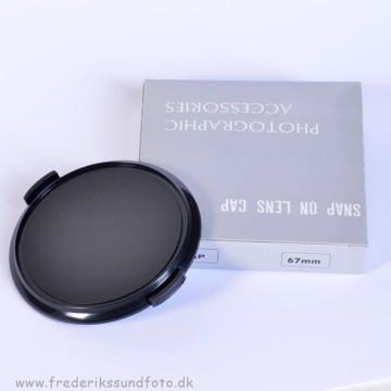 67mm Snap on lens cap