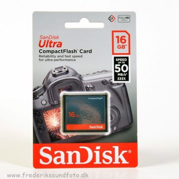 Sandisk Ultra 16 GB 50mb/s CF kort