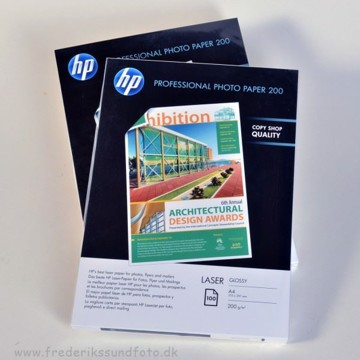 HP A4 Laser Glossy Printerpapir 100 ark