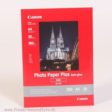 Canon A4 Satin Foto Printerpapir SG-201 20 ark.