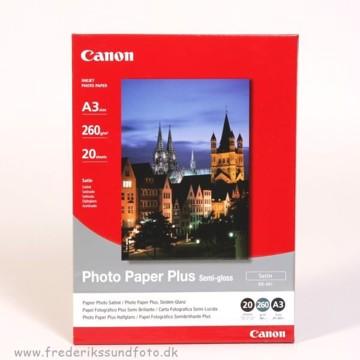 Canon A3 Satin Foto Printerpapir SG-201 20 ark.