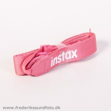 Instax neck strap raspberry red