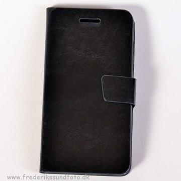 Iphone 6+ Etui m/Magnetluk og Kreditkortlomme Sort