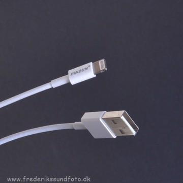 Pinzun Lightning Kabel 1m Hvid
