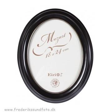 Mozart Oval ramme 13x18 Sort m/guld