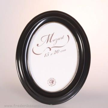 Mozart Oval ramme 15x20 Sort m/guld