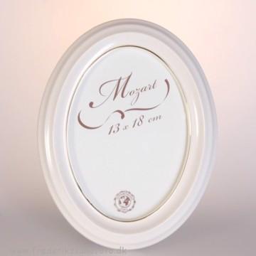 Mozart Oval ramme 13x18 Hvid m/guld