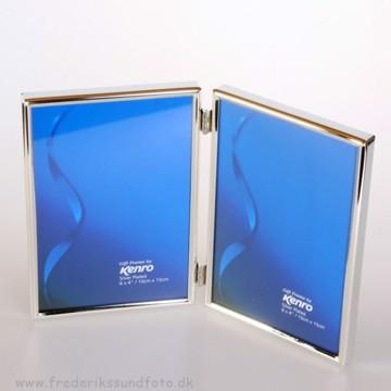 Kenro Sølv Dobbelt-ramme10x15cm