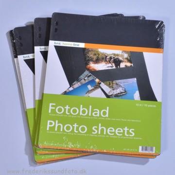 Fotosider sort pakke m/10 stk.