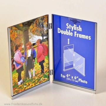 Stylish Double Frame Vertikal 10x15