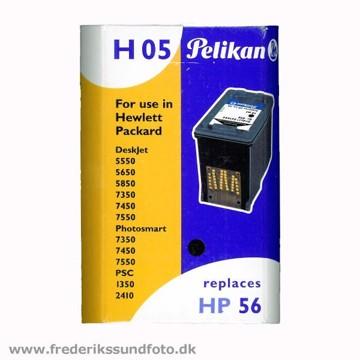Pelikan H05 til HP nr. 56 Sort blækpatron