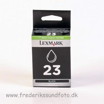 Lexmark 23 sort blæk