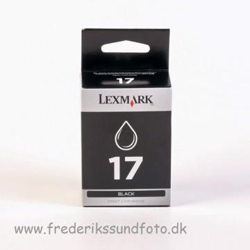 Lexmark 17 Sort blæk