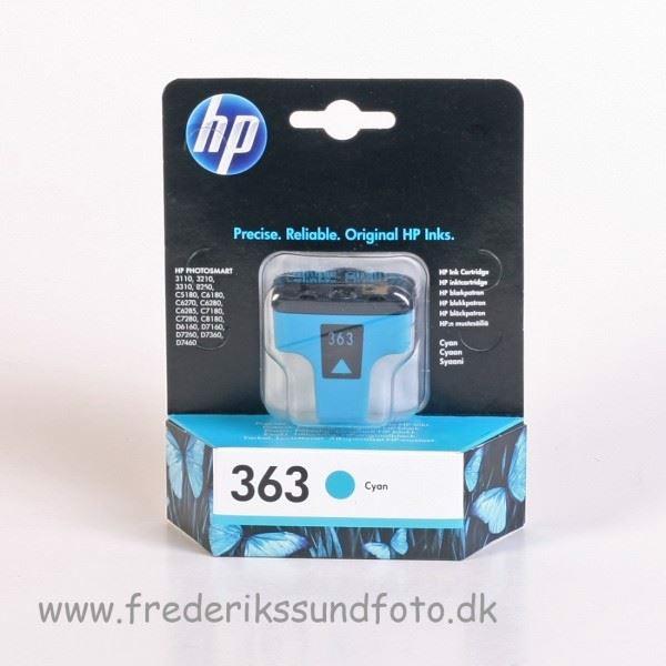 HP 363 Cyan blækpatron