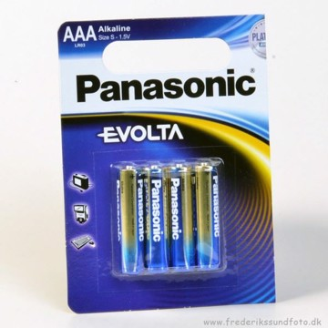 Panasonic Evolta AAA LR03 batterier