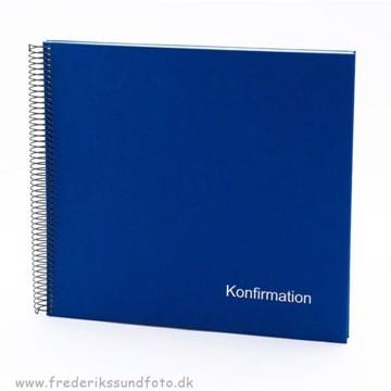 GB Konfirmation Spiral album 30x34 blå m/DK tekst