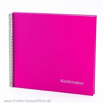 GB Konfirmation Spiral album 30x34 pink m/DK tekst