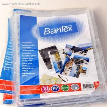 10x15 Bantex Klar Fotolomme 2112