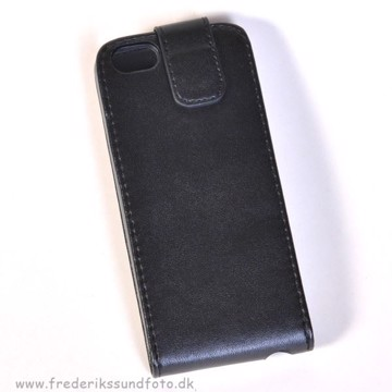 iPhone 5 Flip-cover Sort m/magnetluk