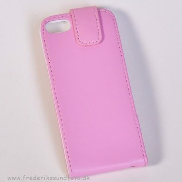 iPhone 5 Flip-cover Pink m/magnetluk