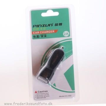 Pinzun 12V USB lader 2xUSB 1ah+2ah