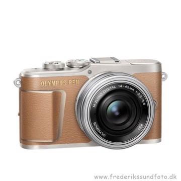 Olympus PEN E-PL9 14-42mm EZ brun