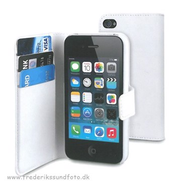 Muvit iPhone 4/4s Wallet Case t. 3 kort Hvid