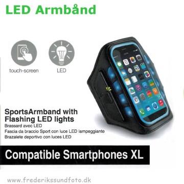 Muvit LED Sportsarmbånd XL blå