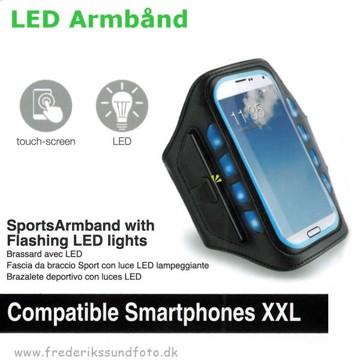 Muvit LED Sportsarmbånd XXL blå