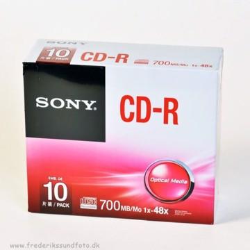 Sony CD-R skiver m/etui 10 pak.