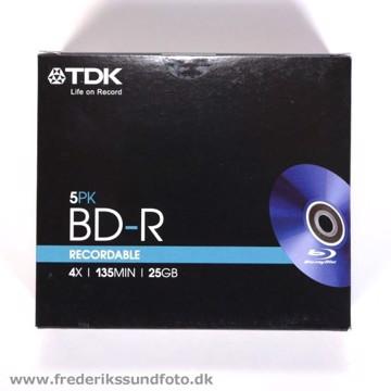 TDK Blu-ray Disc BD-R 25GB 5 pak