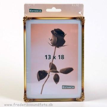 Rose metal 13x18 guld