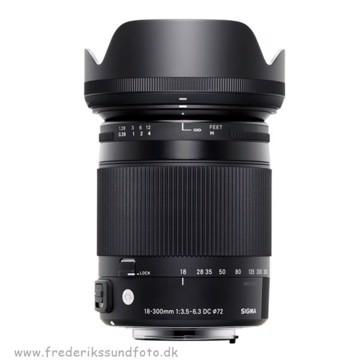 Sigma 18-300mm f:3.5-6.3 DC Macro til Nikon