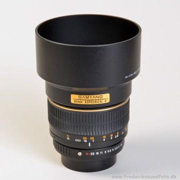 Samyang 85mm f1,4 til Pentax