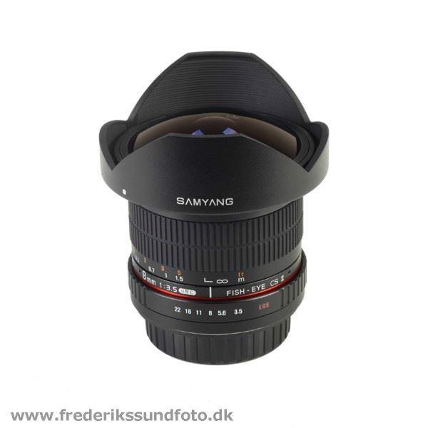 Samyang 8mm f:3.5 UMC CS II til Pentax