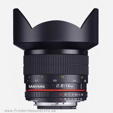 Samyang 14mm f2,8 t/Nikon (AE) Full frame