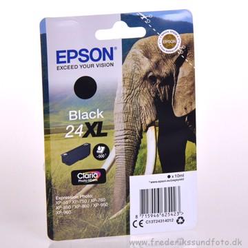 Epson 24XL Sort blæk