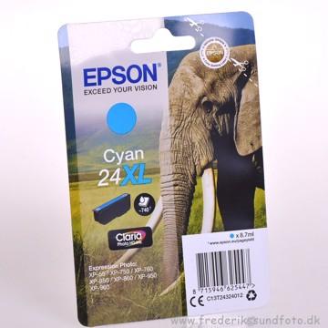 Epson 24XL Cyan blæk