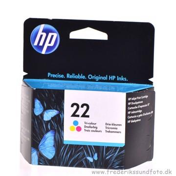 HP 22 Farve Blækpatron