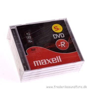 5 pak. Maxell DVD -R 4,7GB 16X
