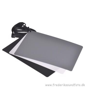 Gråkort kit 12,7x17,7 cm grå, sort & hvid