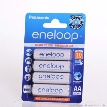 Panasonic Eneloop AA Opladelig batt. 1900mAh 4 pak