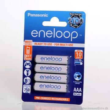Panasonic Eneloop AAA Opladelig batt. 750mAh 4 pak