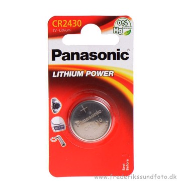 PANASONIC CR2430  Lithium 3V batteri