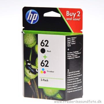 HP 62 2 pak farve & Sort printerpatron