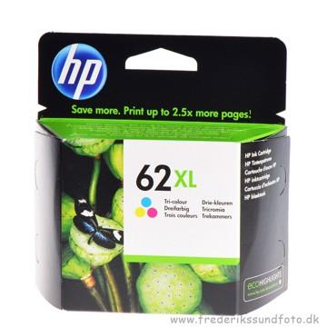 HP 62 XL Farve Blækpatron