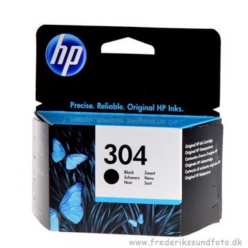 HP 304 Sort Blækpatron