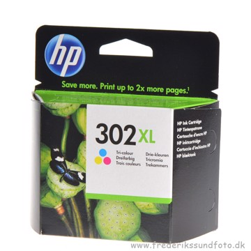 HP 302 XL Farve Blækpatron