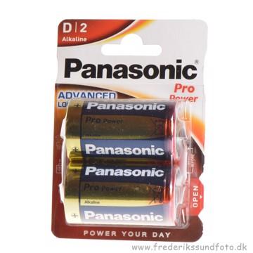 Panasonic Pro power 1,5v LR20 D batteri 2 pak.